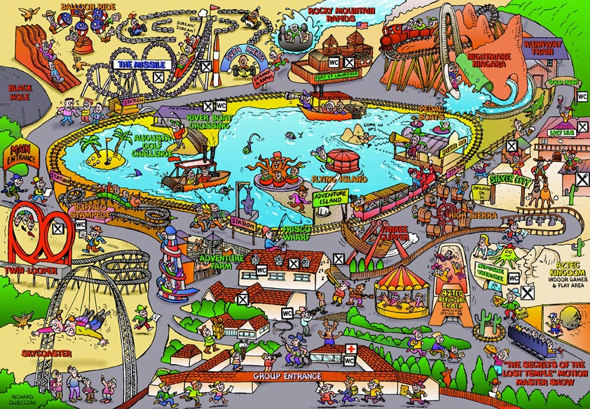 Cartoon Map - American Adventure theme park! - The ... on not to scale map, sci fi map, road map, political map, childrens map, countries flags map, simple map, french map, office map, car and map, cute map, tube map, game map, classroom map, me on the map, watercolor map, student with map, vintage map,